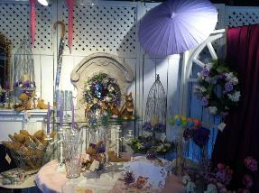 Mauve Parasol and Shop Display